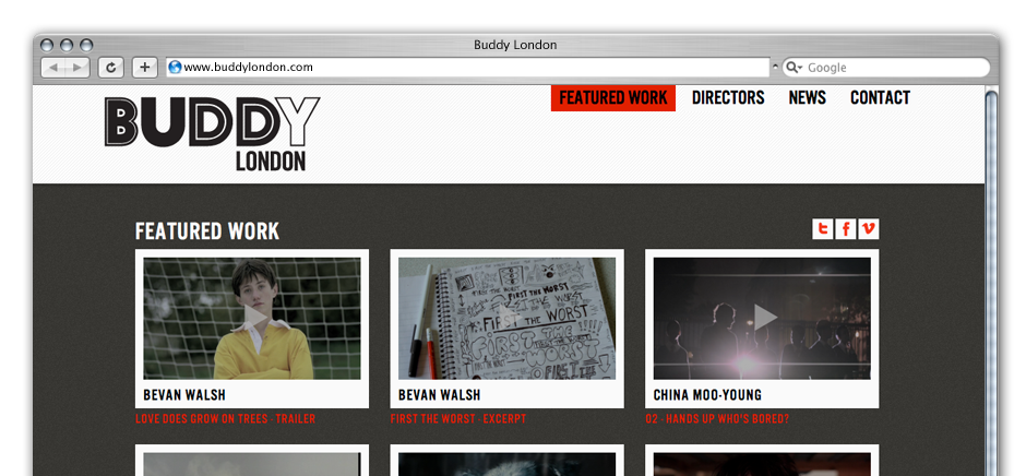 screengrab of buddy-london-wordpress-web-design-brighton