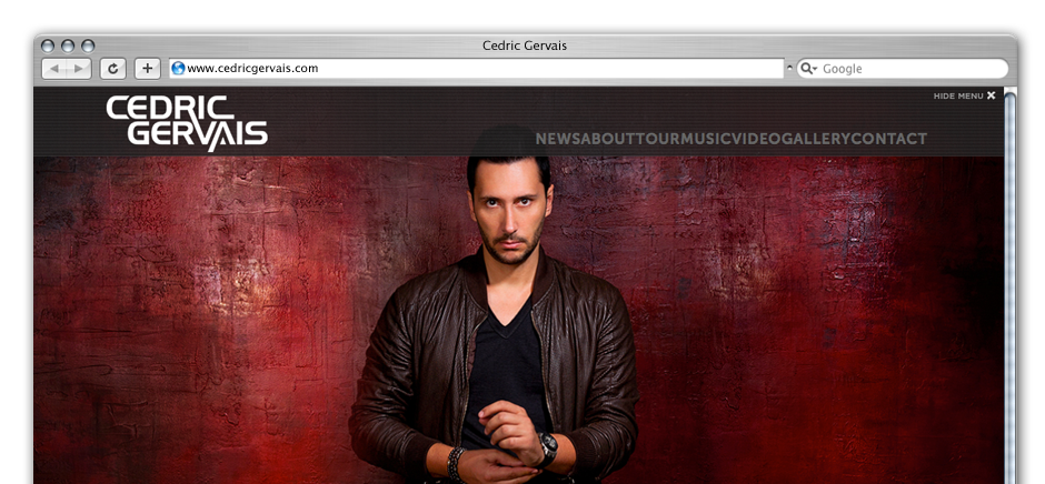 screengrab of cedric-gervais-wordpress-web-design-brighton
