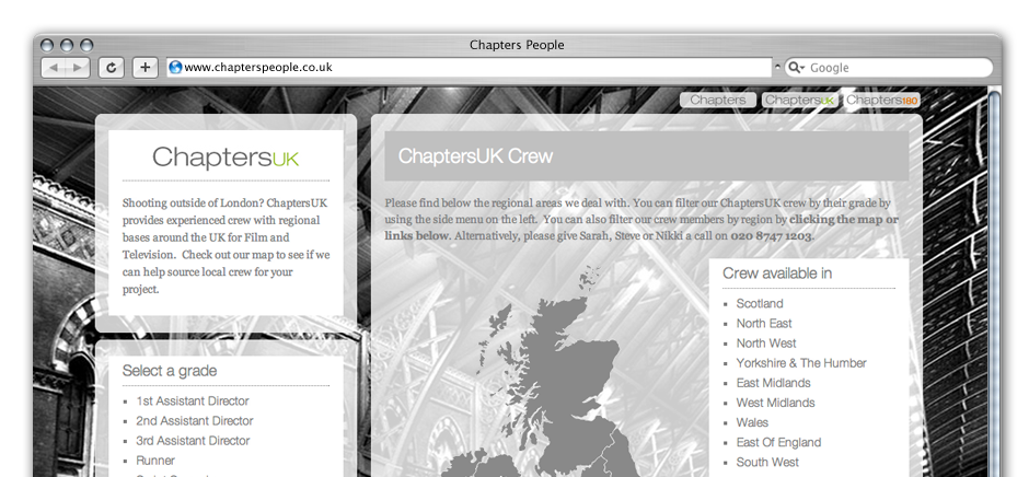 screengrab of chapters-wordpress-web-design-brighton