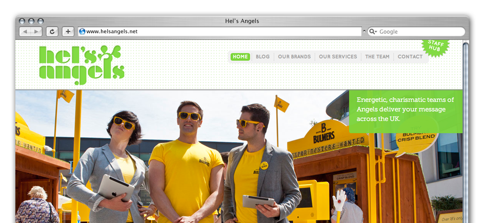 screengrab of hels-angel-wordpress-web-design-brighton