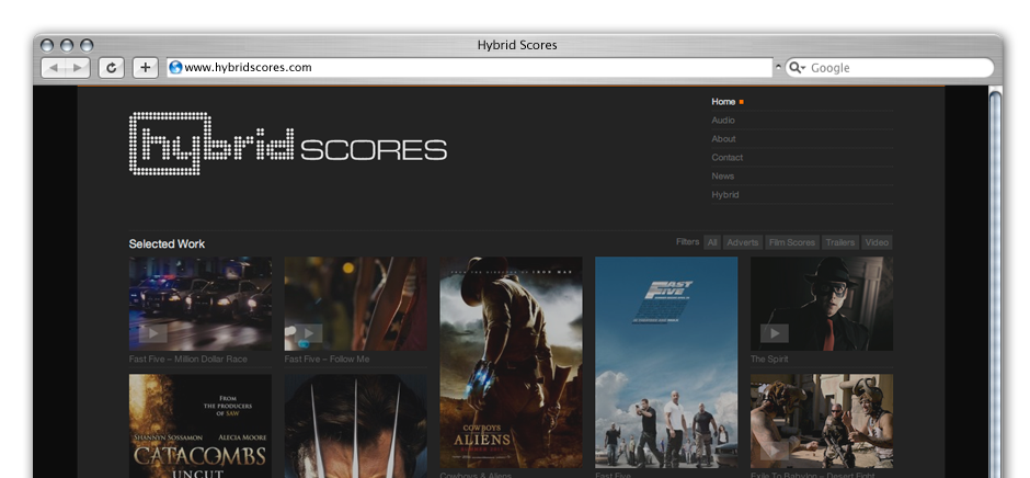 screengrab of hybrid-scores-wordpress-web-design-brighton
