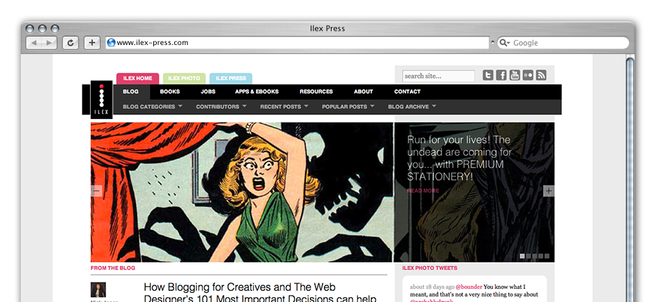 screengrab of ilex-press-wordpress-web-design-brighton