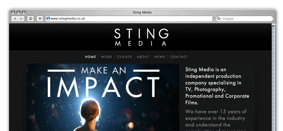 screengrab of sting-media-wordpress-web-design-brighton